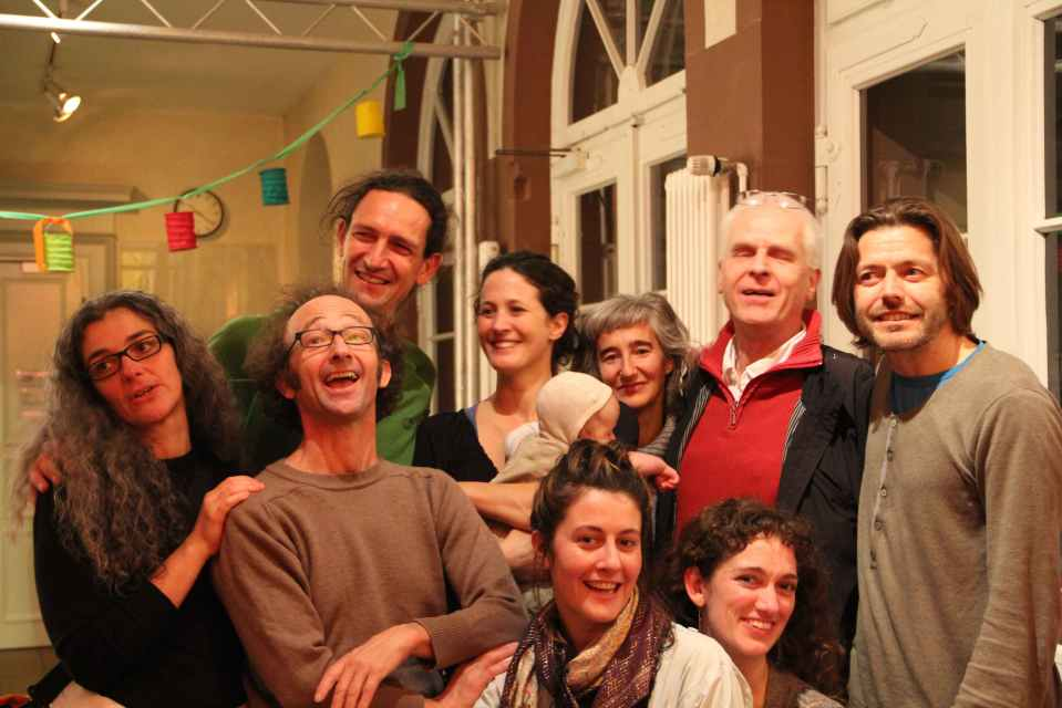 In KOKI foyer after the premiere. From L to R. Barbara, Ecki, Benno, Sonja, Louie, Lea, Dani, Alyssa, Thomas and Mike